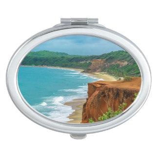 Aerial Seascape Scene Pipa Brazil Vanity Mirrors