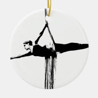 Aerial Silks Dancer Ceramic Ornament