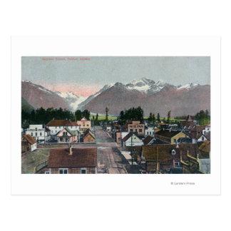 Aerial Summer View of the CityValdez, AK Postcard