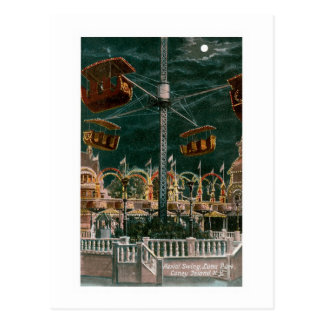 Aerial Swing, Coney Island Postcard