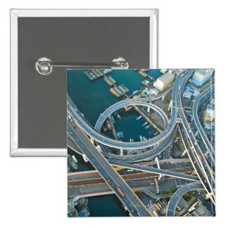 Aerial View Pinback Button