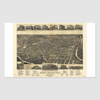 Aerial View Fort Worth Tarrant County Texas (1886)