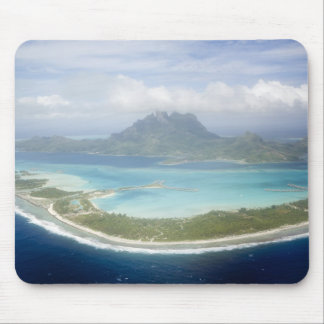 Aerial view from small commuter plane of Bora Mouse Pad