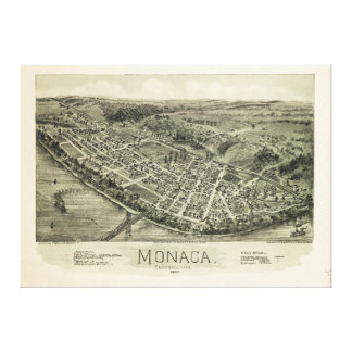 Aerial View if Monaca, Pennsylvania (1900) Canvas Print