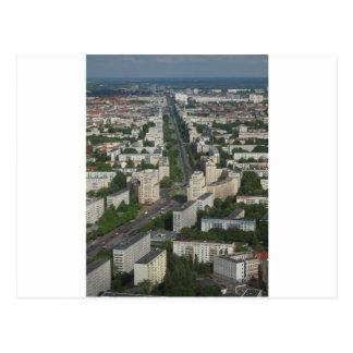 Aerial view Karl Marx Allee Berlin Germany Postcard