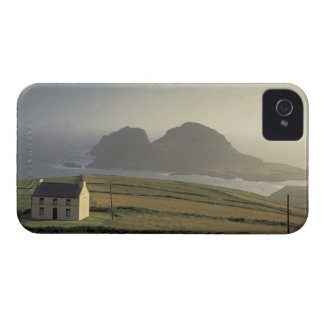 aerial view of a cottage on a hill by the sea Case-Mate iPhone 4 case
