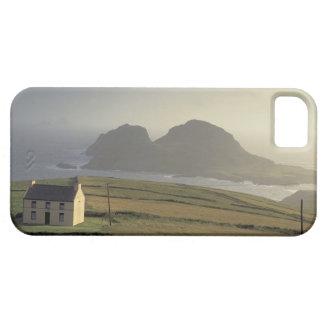 aerial view of a cottage on a hill by the sea iPhone 5 cases