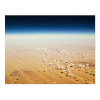 Aerial view of a desert postcard