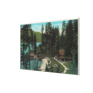 Aerial View of a Typical Summer Home on the Stretched Canvas Print