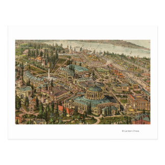Aerial View of Alaska Yukon Pacific Expo Postcard