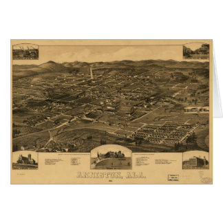 Aerial View of Anniston, Alabama (1887) Card
