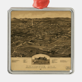Aerial View of Anniston, Alabama (1887) Metal Ornament