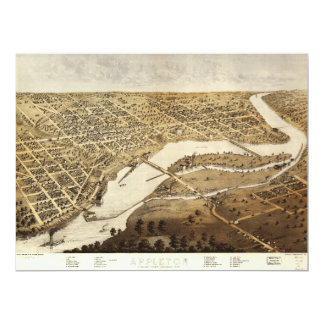 Aerial View of Appleton, Wisconsin (1867) Card