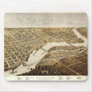 Aerial View of Appleton, Wisconsin (1867) Mouse Pad