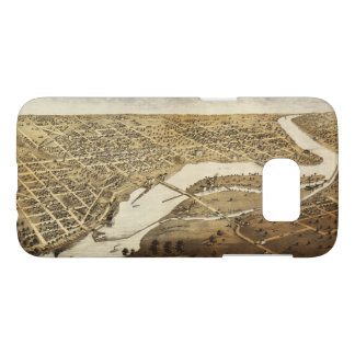 Aerial View of Appleton, Wisconsin (1867) Samsung Galaxy S7 Case