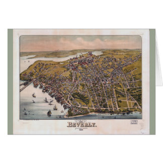 Aerial View of Beverly, Massachusetts (1886) Card