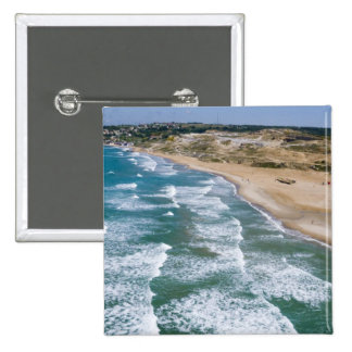 Aerial view of Black Sea coast of Istanbul, 2 Inch Square Button