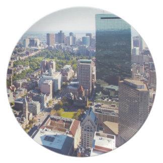 Aerial view of Boston Plates