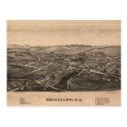 Aerial View of Broadalbin, New York (1880) Postcard