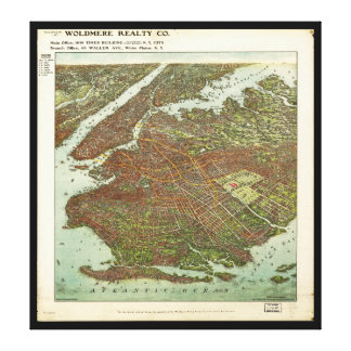 Aerial View of Brooklyn, New York (1908) Canvas Print