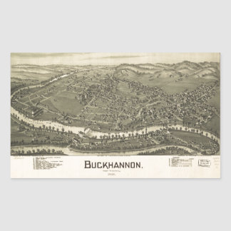 Aerial View of Buckhannon, West Virginia (1900) Sticker