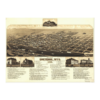 Aerial View of Cheyenne, Wyoming (1882) Canvas Print