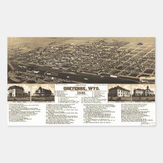 Aerial View of Cheyenne, Wyoming (1882) Sticker