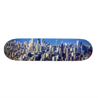 Aerial view of Chicago Downtown with Lake Custom Skateboard