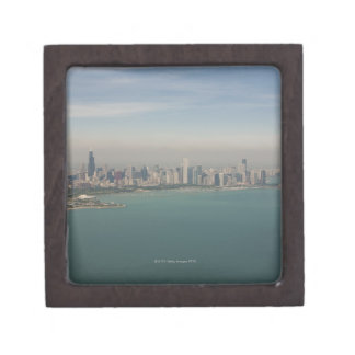 aerial view of Chicago from lake Michigan Premium Gift Boxes