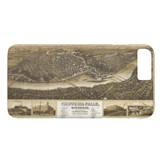 Aerial View of Chippewa Falls, Wisonsin (1907) iPhone 8 Plus/7 Plus Case