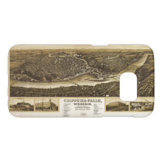 Aerial View of Chippewa Falls, Wisonsin (1907) Samsung Galaxy S7 Case