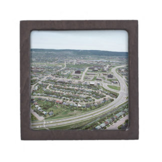 Aerial view of cityscape of Newfoundland, Canada Premium Keepsake Box