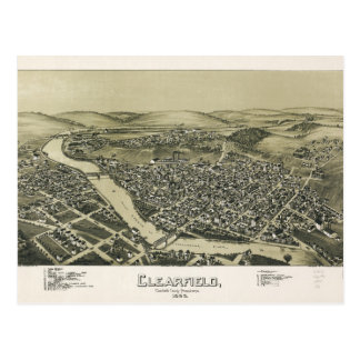Aerial View of Clearfield, Pennsylvania (1895) Postcard