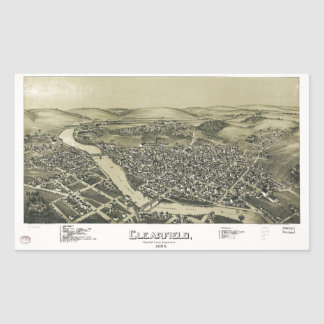 Aerial View of Clearfield, Pennsylvania (1895) Sticker
