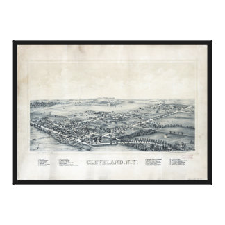 Aerial View of Cleveland, New York (1890) Canvas Print