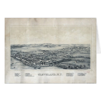 Aerial View of Cleveland, New York (1890) Card