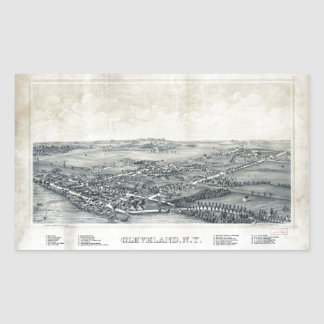 Aerial View of Cleveland, New York (1890) Sticker