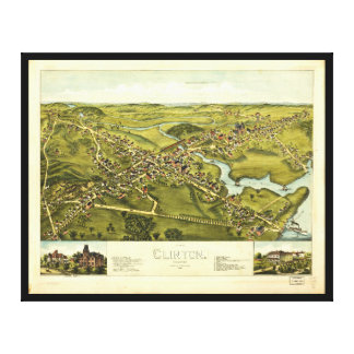 Aerial View of Clinton, Connecticut (1881) Canvas Print