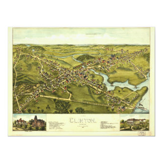 Aerial View of Clinton, Connecticut (1881) Card