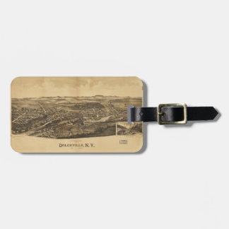 Aerial View of Dolgeville, New York (1890) Luggage Tag