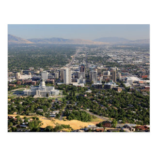 Aerial view of downtown Salt Lake City, Utah Postcard