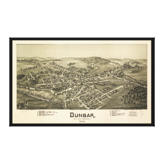 Aerial View of Dunbar, Pennsylvania (1900) Canvas Print