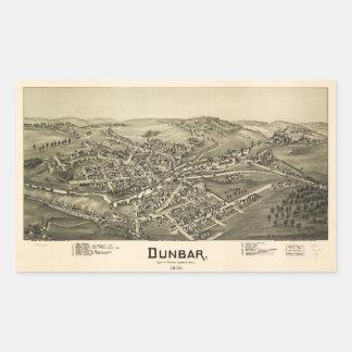 Aerial View of Dunbar, Pennsylvania (1900) Sticker