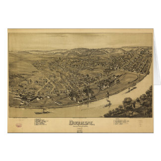 Aerial View of Duquesne, Pennsylvania (1897) Card