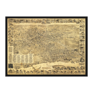 Aerial View of Elizabeth, New Jersey (1898) Canvas Print