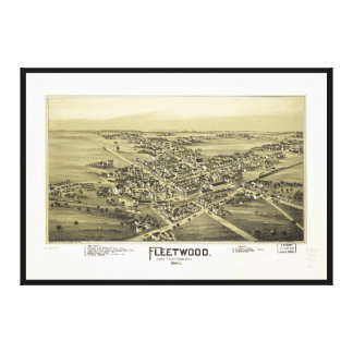 Aerial View of Fleetwood, Pennsylvania (1893) Canvas Print