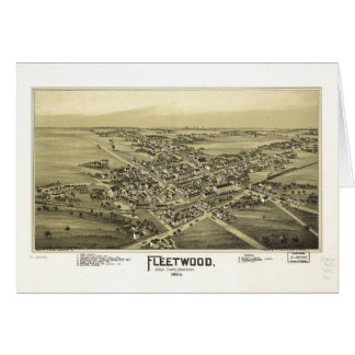 Aerial View of Fleetwood, Pennsylvania (1893) Card