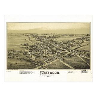 Aerial View of Fleetwood, Pennsylvania (1893) Postcard