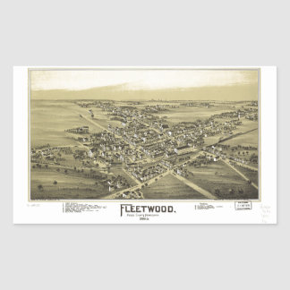 Aerial View of Fleetwood, Pennsylvania (1893) Sticker