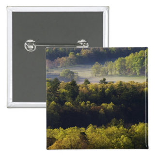 Aerial view of forest in Cades Cove, Great Smoky 2 Inch Square Button